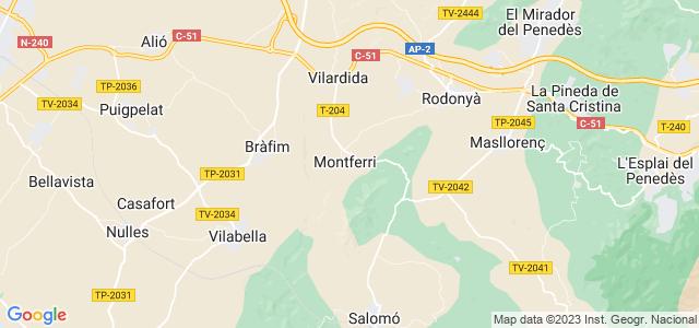 Mapa de Montferri