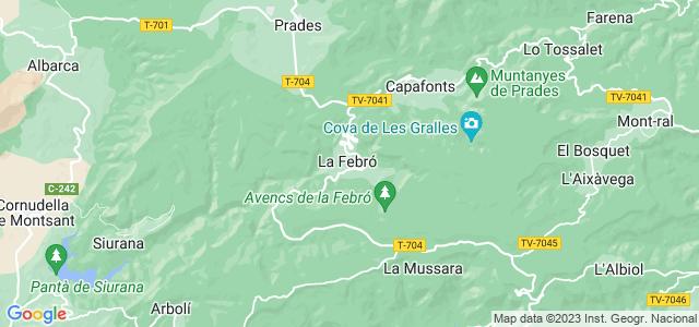 Mapa de Febró