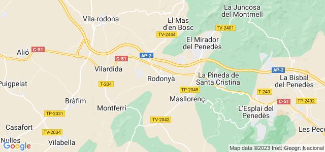 Mapa de Rodonyà