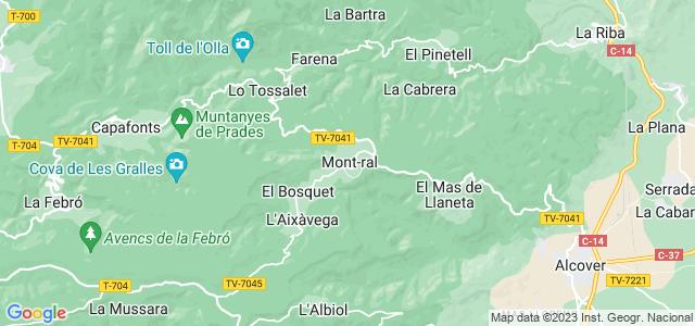 Mapa de Mont-ral