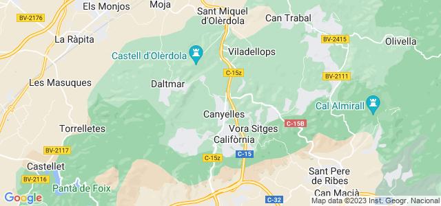 Mapa de Canyelles