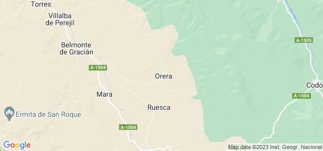 Mapa de Orera