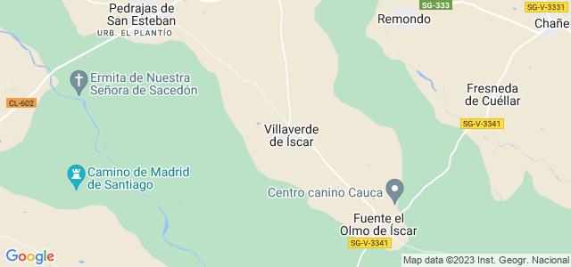 Mapa de Villaverde de Íscar