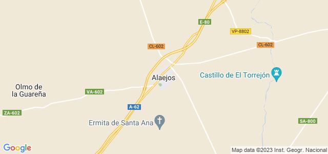 Mapa de Alaejos