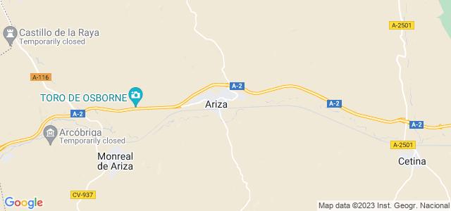 Mapa de Ariza