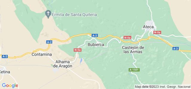 Mapa de Bubierca