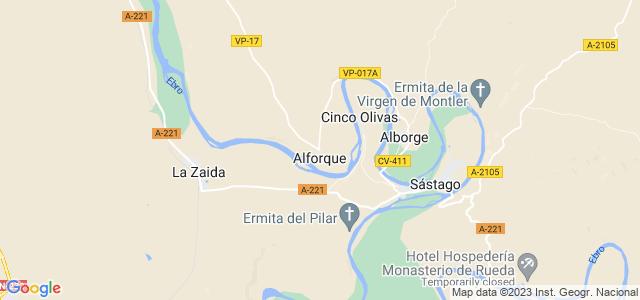 Mapa de Alforque