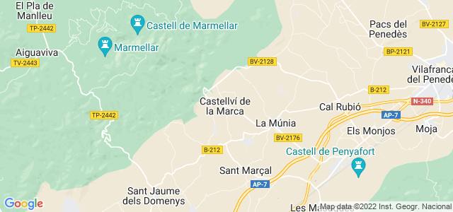 Mapa de Castellví de la Marca