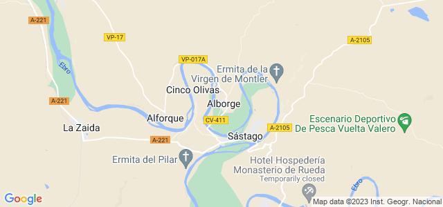 Mapa de Alborge