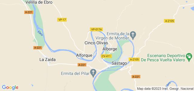 Mapa de Cinco Olivas