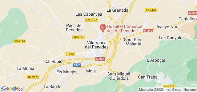Mapa de Vilafranca del Penedès