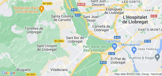 Mapa de Sant Boi de Llobregat