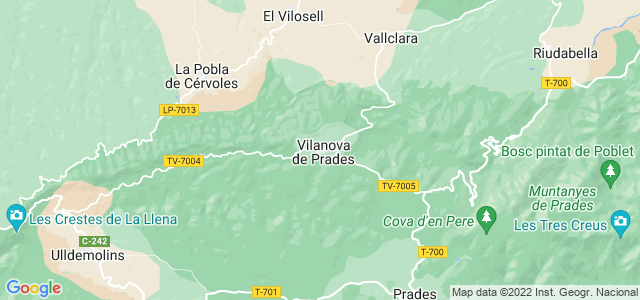 Mapa de Vilanova de Prades