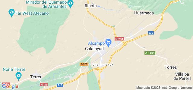 Mapa de Calatayud