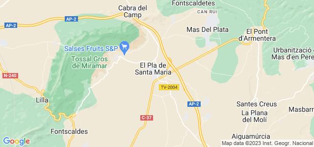 Mapa de Pla de Santa Maria