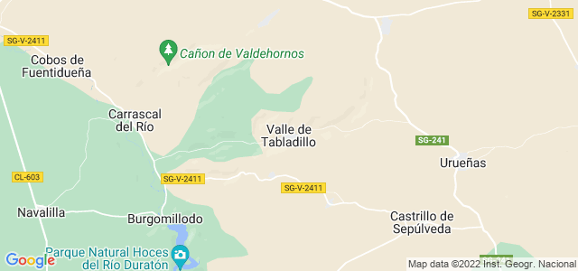 Mapa de Valle de Tabladillo