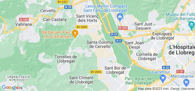 Mapa de Santa Coloma de Cervelló