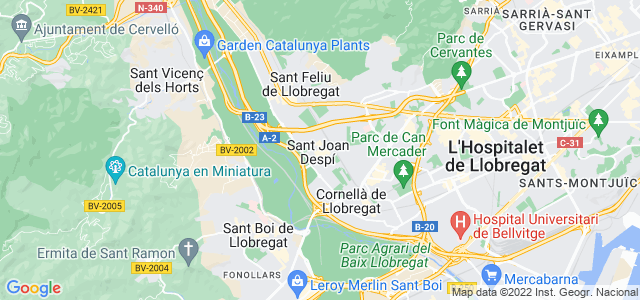 Mapa de Sant Joan Despí