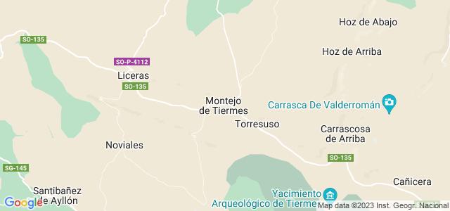 Mapa de Montejo de Tiermes
