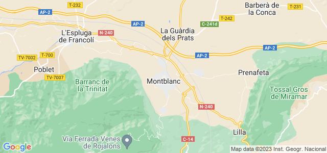 Mapa de Montblanc