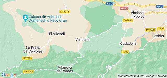 Mapa de Vallclara