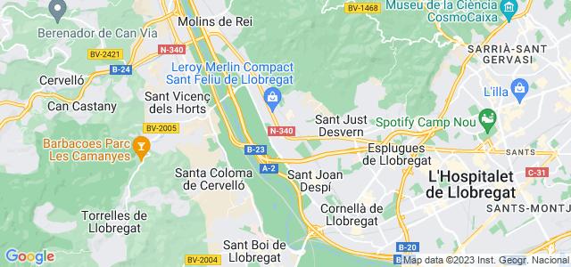Mapa de Sant Feliu de Llobregat