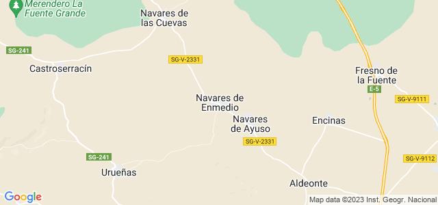 Mapa de Navares de Enmedio