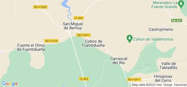 Mapa de Cobos de Fuentidueña