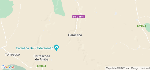Mapa de Caracena