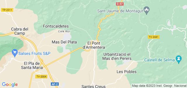 Mapa de Pont dArmentera