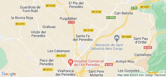 Mapa de Santa Fe del Penedès