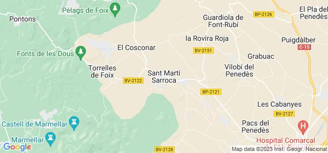 Mapa de Sant Martí Sarroca