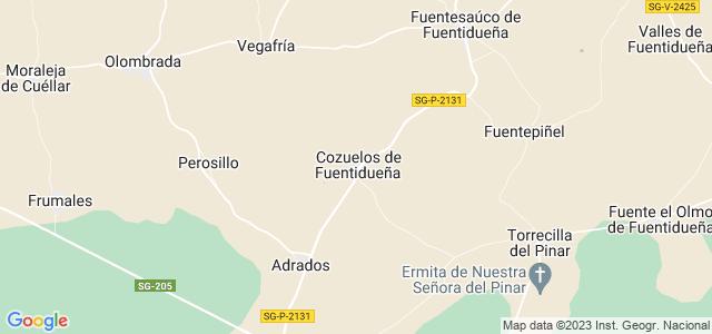 Mapa de Cozuelos de Fuentidueña
