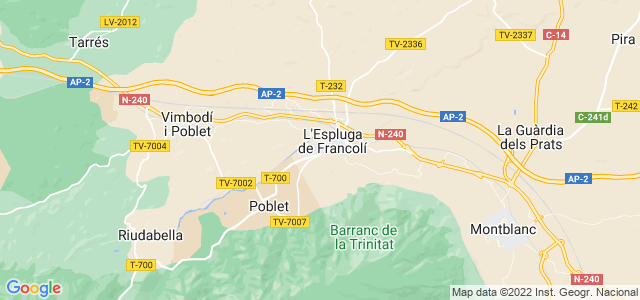 Mapa de Espluga de Francolí