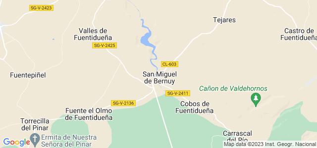 Mapa de San Miguel de Bernuy