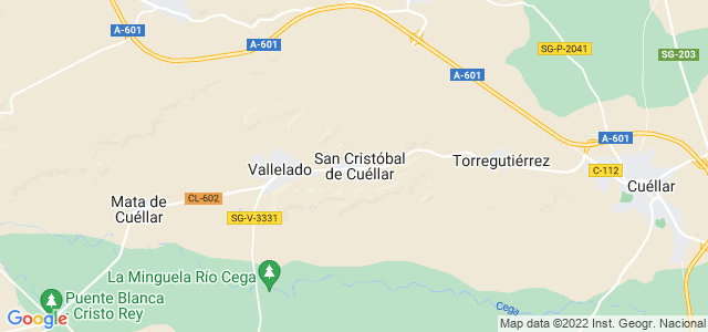 Mapa de San Cristóbal de Cuéllar
