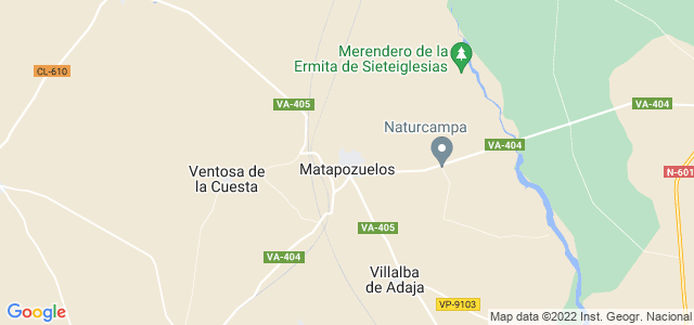 Mapa de Matapozuelos