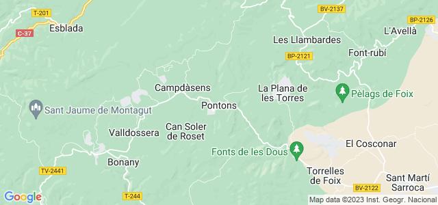Mapa de Pontons