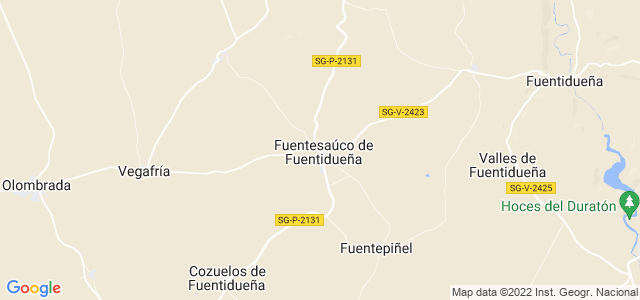 Mapa de Fuentesaúco de Fuentidueña