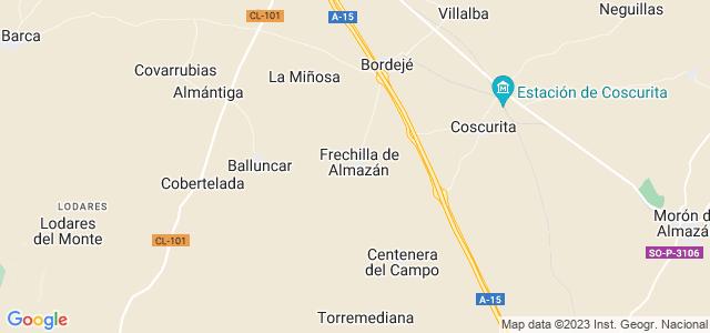 Mapa de Frechilla de Almazán