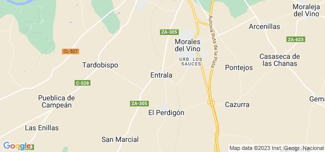 Mapa de Entrala