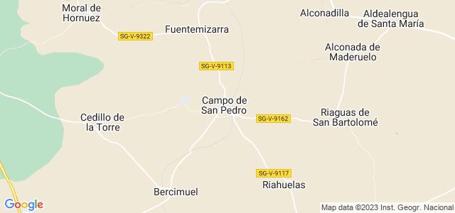 Mapa de Campo de San Pedro