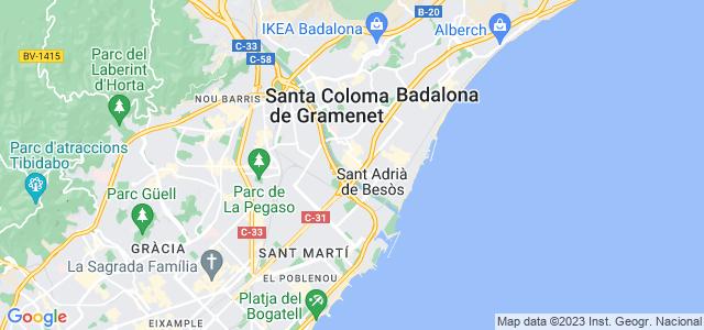 Mapa de Sant Adrià de Besòs