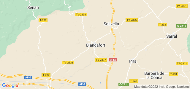 Mapa de Blancafort