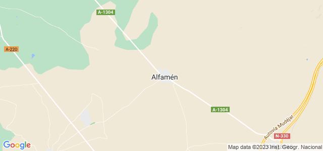 Mapa de Alfamén