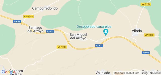 Mapa de San Miguel del Arroyo