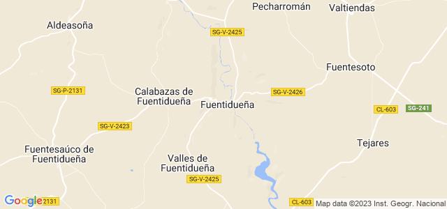 Mapa de Fuentidueña