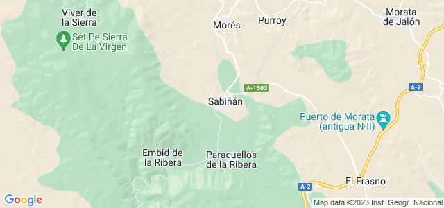 Mapa de Sabiñán