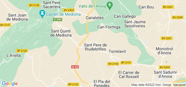 Mapa de Sant Pere de Riudebitlles