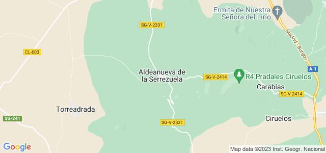 Mapa de Aldeanueva de la Serrezuela